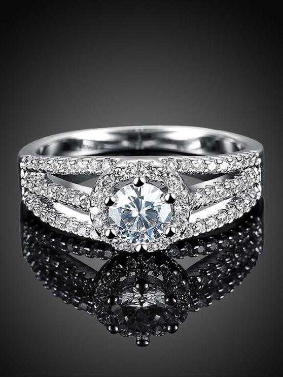 Anneau en S925 et diamant stratiforme - Argent 6