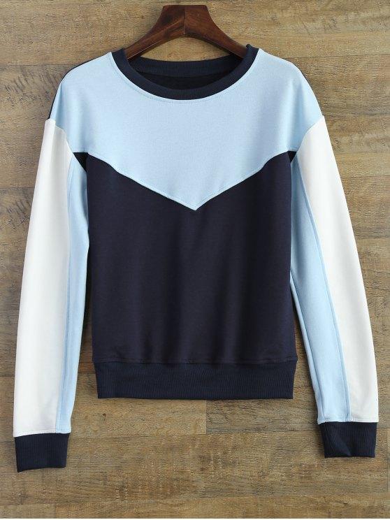 Ocio bloque del color de la camiseta - Azul L