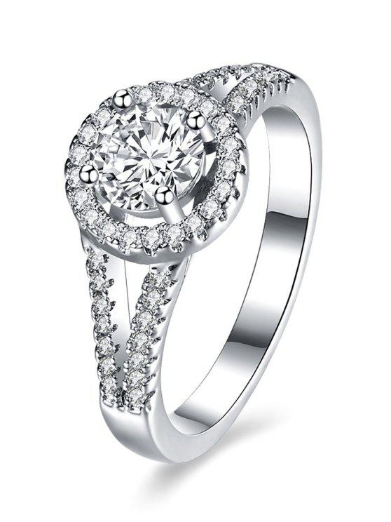 outfits S925 Diamond Round Ring - SILVER 7