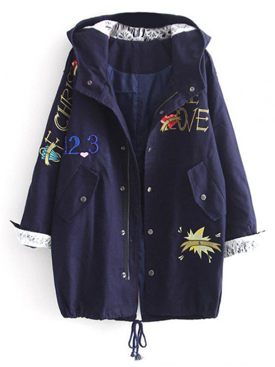 Escudo letra bordada con capucha de las lentejuelas - Marina de Guerra L