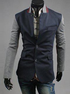 Pocket Contrast Insert Double Vent Blazer - Deep Blue 2xl