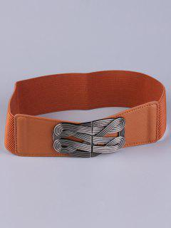 Faux Leather Stretch Belt - Chocolate