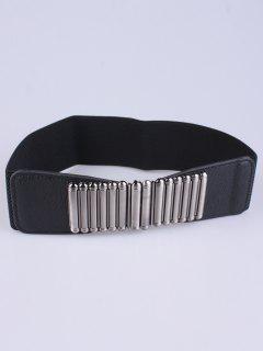 Bowknot Decorative Elastic Wide Belt - Black