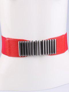 Bowknot Decorative Elastic Wide Belt - Red