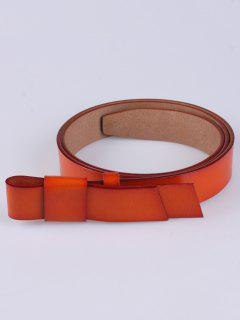 Adjustable Faux Leather Belt - Darksalmon