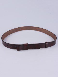 Adjustable Faux Leather Belt - Coffee