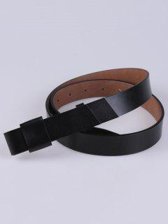 Adjustable Faux Leather Belt - Black