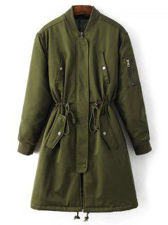 Skirted Utility Coat - Army Green S