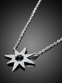 Star Flower S925 Diamond Necklace - Silver