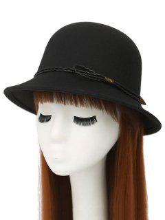 PU Rope Arrow Dome Hat - Black