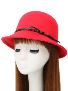 PU Rope Arrow Dome Hat - Red
