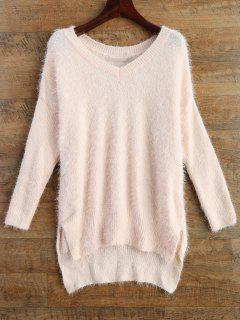 Fluffy Basic Sweater - Pink M