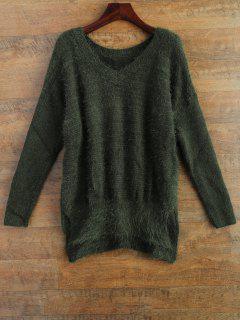 Fluffy Basic Sweater - Green M