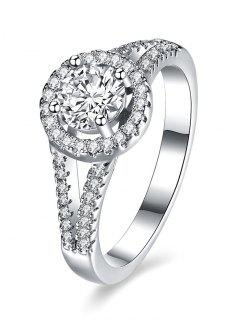 S925 Diamond Round Ring - Silver 6