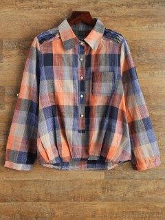 Checked Shirt With Pocket - Plaid Xl