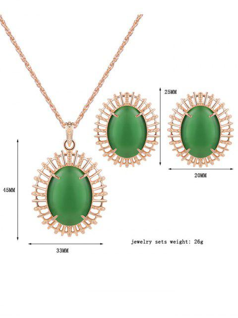 sale Oval Fake Opal Jewelry Set -   Mobile