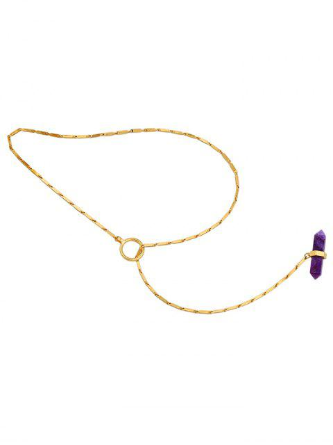 fancy Geometry Natural Stone Necklace - GOLDEN  Mobile
