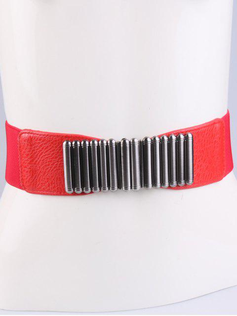 trendy Bowknot Decorative Elastic Wide Belt - RED  Mobile