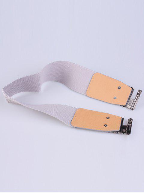 chic Bowknot Decorative Elastic Wide Belt -   Mobile