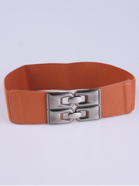buy PU Alloy Elastic Wide Belt -   Mobile