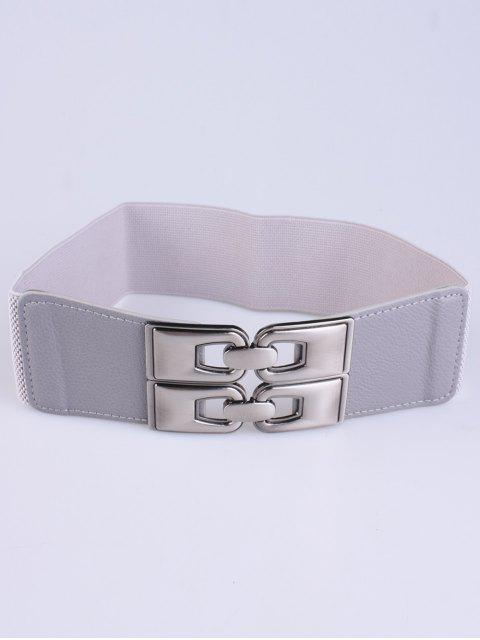 ladies PU Alloy Elastic Wide Belt -   Mobile