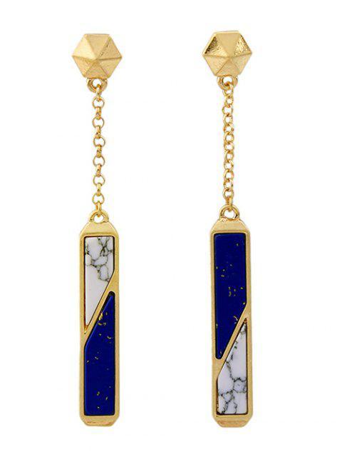 latest Two Tone Faux Gem Drop Earrings -   Mobile