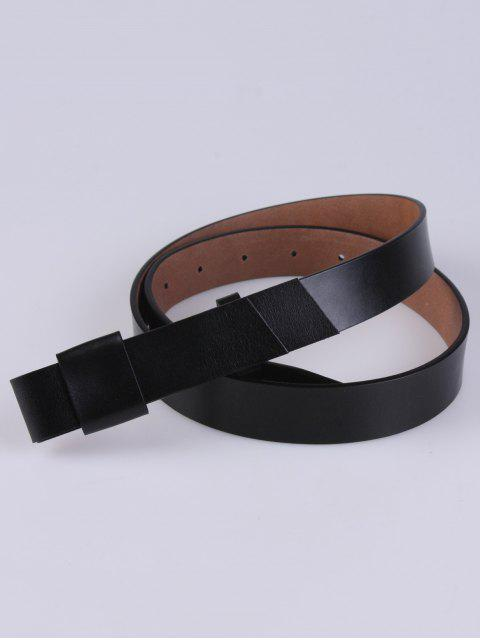 fashion Adjustable Faux Leather Belt - BLACK  Mobile
