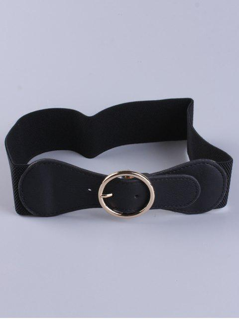 chic Bowknot Round Buckle Elastic Belt -   Mobile