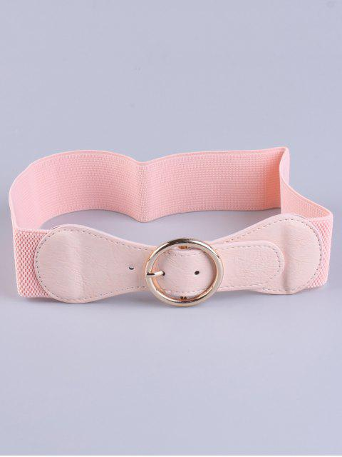 fancy Bowknot Round Buckle Elastic Belt -   Mobile