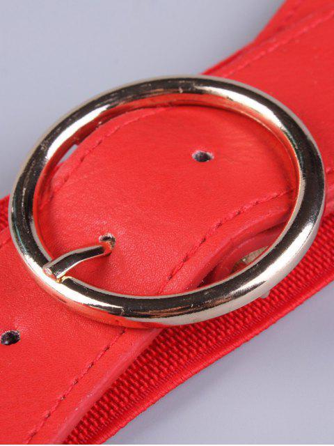 unique Bowknot Round Buckle Elastic Belt - RED  Mobile