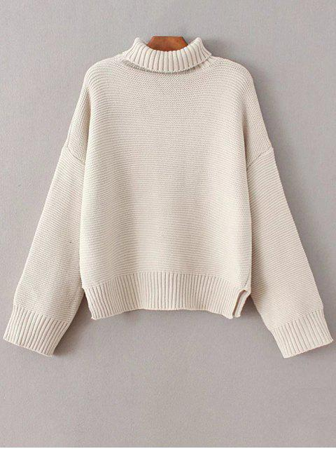 sale Oversized Turtle Neck Sweater - OFF-WHITE ONE SIZE Mobile