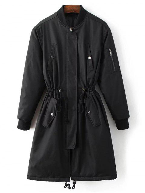 outfits Skirted Utility Coat - BLACK S Mobile
