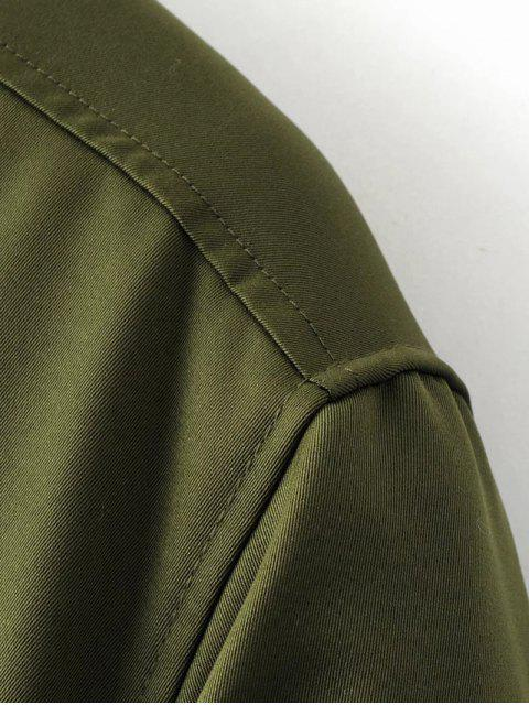 shops Skirted Utility Coat - ARMY GREEN M Mobile