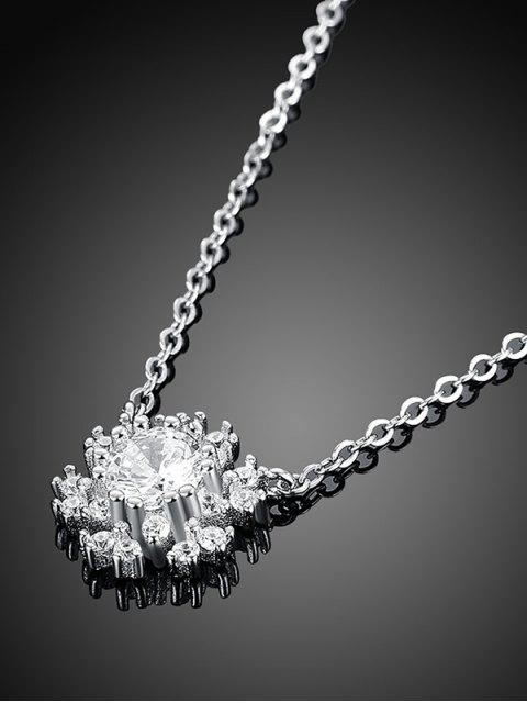 chic Snowflake S925 Diamond Necklace -   Mobile