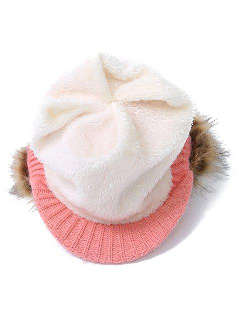 outfit Pom Ball Hemp Flowers Knitted Hat -   Mobile