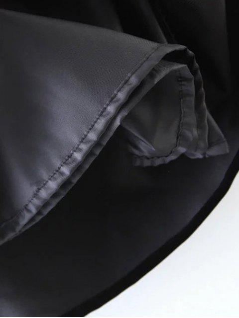 affordable Ethnic Floral A-Line Skirt - BLACK M Mobile