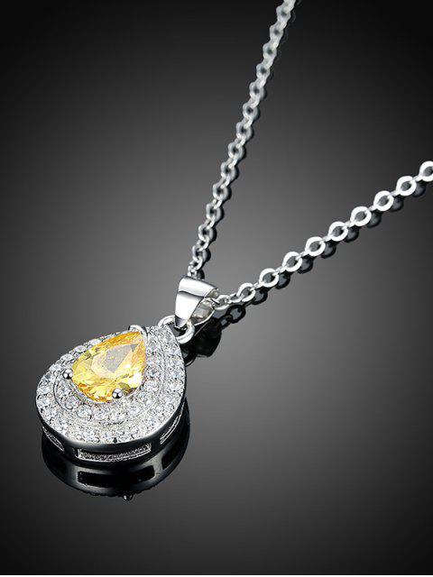 unique Embellished Teardrop S925 Diamond Necklace -   Mobile