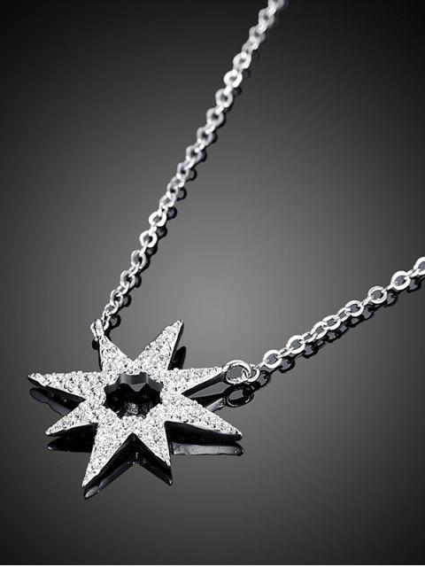sale Star Flower S925 Diamond Necklace -   Mobile