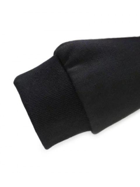 lady Loose Emroidered Sweatshirt - BLACK S Mobile