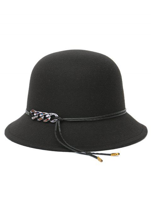 shop PU Rope Dome Hat - BLACK  Mobile