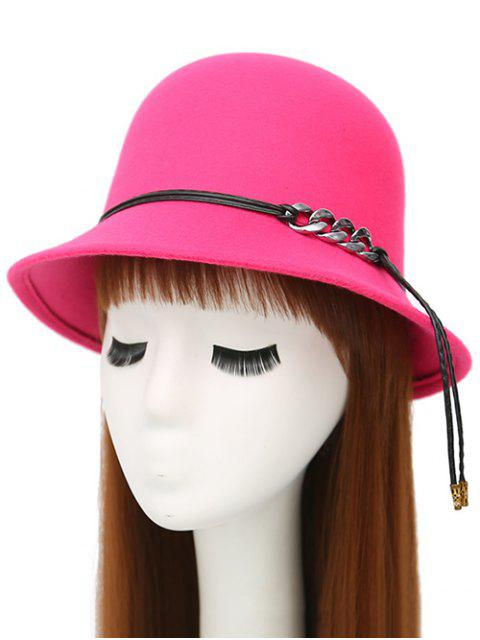 shops PU Rope Dome Hat - ROSE MADDER  Mobile