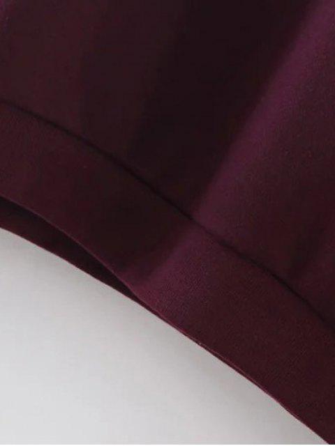 latest Sports Figure Print Sweatshirt - WINE RED S Mobile