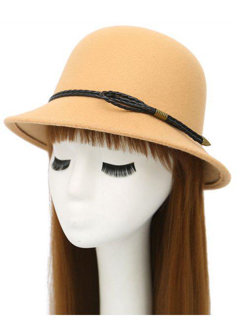 fancy PU Rope Arrow Dome Hat - BEIGE  Mobile