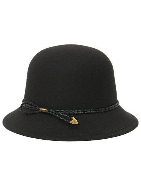 sale PU Rope Arrow Dome Hat - BLACK  Mobile