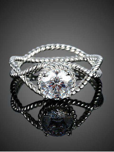 hot S925 Diamond Circle Ring -   Mobile