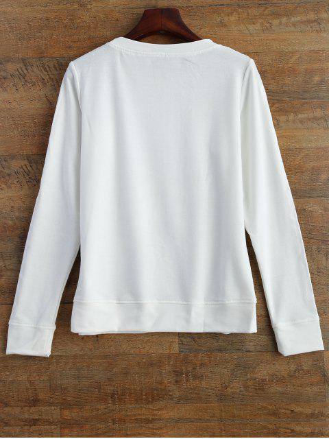unique Skeleton Graphic Halloween Sweatshirt - WHITE 2XL Mobile