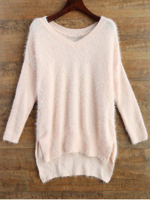 best Fluffy Basic Sweater - PINK 2XL Mobile