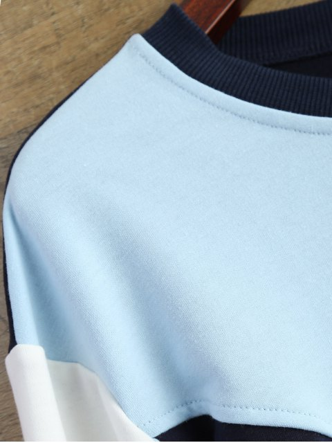 lady Leisure Color Block Sweatshirt - BLUE M Mobile
