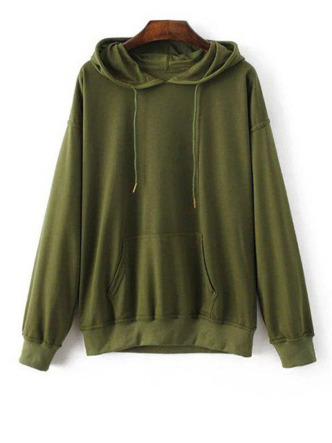 lady Bat-Wing Sleeve Casual Hoodie - ARMY GREEN S Mobile
