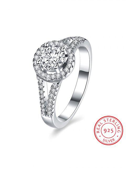 shop S925 Diamond Round Ring -   Mobile